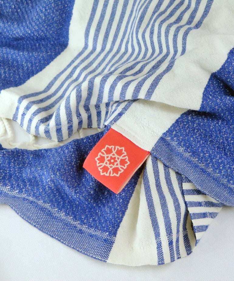 Turkish Towel Large Bamboo Indigo