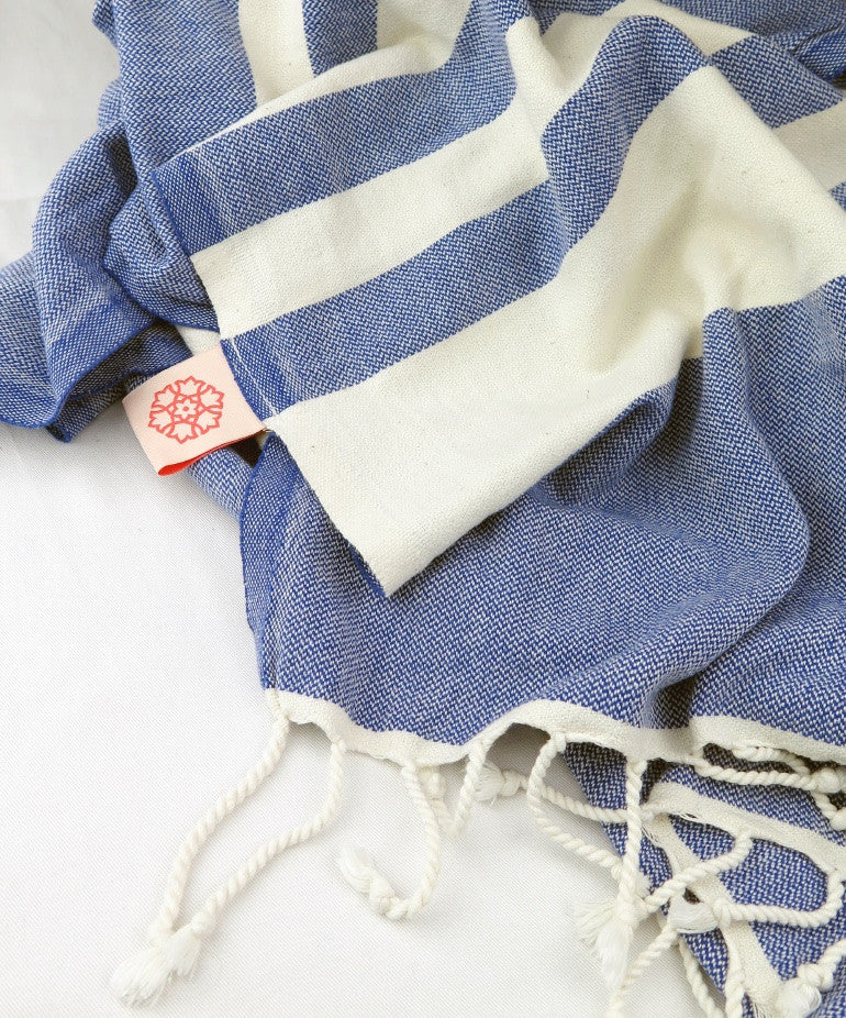 Turkish Towel Large Cotton Indigo