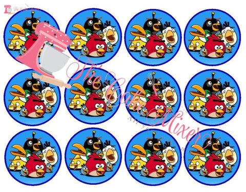Angry Birds Wafer Paper Cupcake Toppers