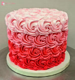 Buttercream Rosette Cake. Choose Your Size & Colour Reds / 6 Inch 2 Layer Toys&parties.co.nz