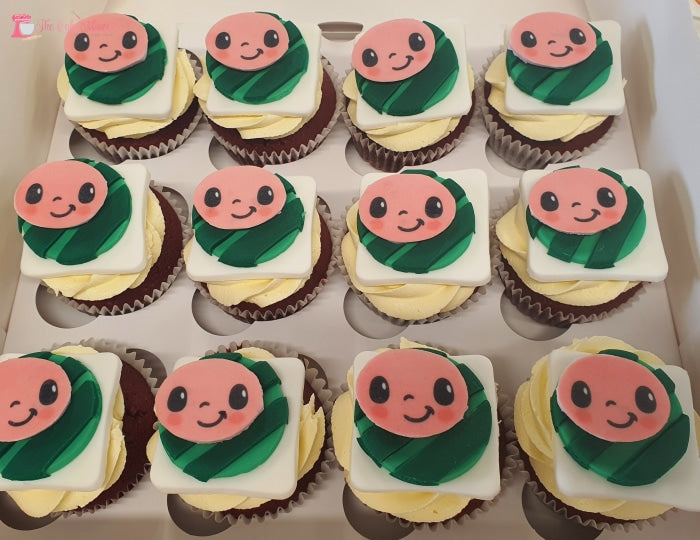 Cocomelon Theme Cupcakes. Available In 6 Or 12 Packs. Pack Chocolate Toys&parties.co.nz