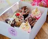 Deluxe Cupcake 6 Pack $32 Bakers Half Dozen Toys&parties.co.nz