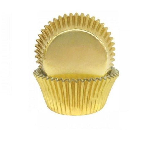 Gold Foil Baking Cups x45