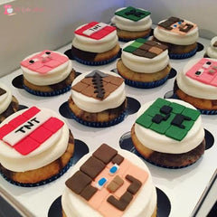 Minecraft Theme Cupcakes. Available In 6 Or 12 Packs. Pack Chocolate Toys&parties.co.nz