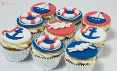 Nautical Theme Cupcakes. Available In 6 Or 12 Packs. Pack Chocolate Toys&parties.co.nz