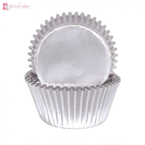 Silver Foil Baking Cups x45