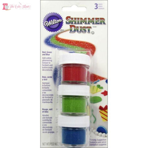 Wilton Shimmer Dust Primary Colours 3 Pack