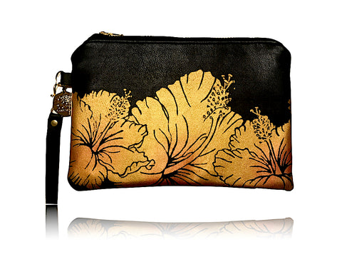 Hibiscus - Small Bonded Leather Handbag