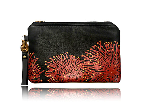 Ohia Lehua - Large Bonded Leather Handbag