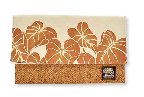 NEW Kalo Handprinted Foldover Clutch