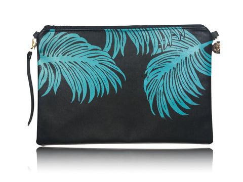 Palm Leaves - Large Leather with Aloha Handbag