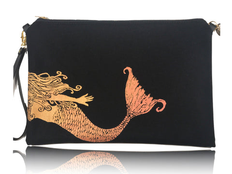 Swimming Mermaid - Large Handbag