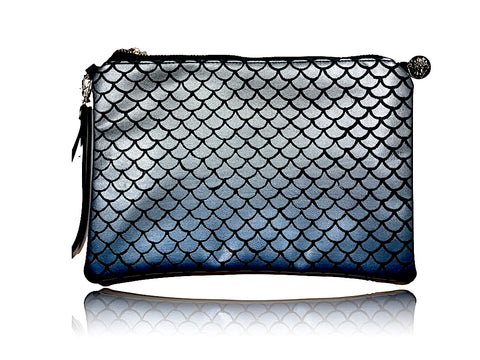 Mermaid Scales - Large Bonded Leather Handbag