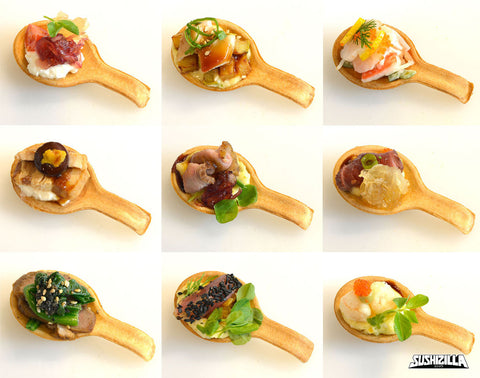Assorted Canapes Zilla Spoon - 20 pcs