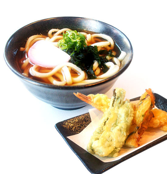 Udon set with mixed tempura