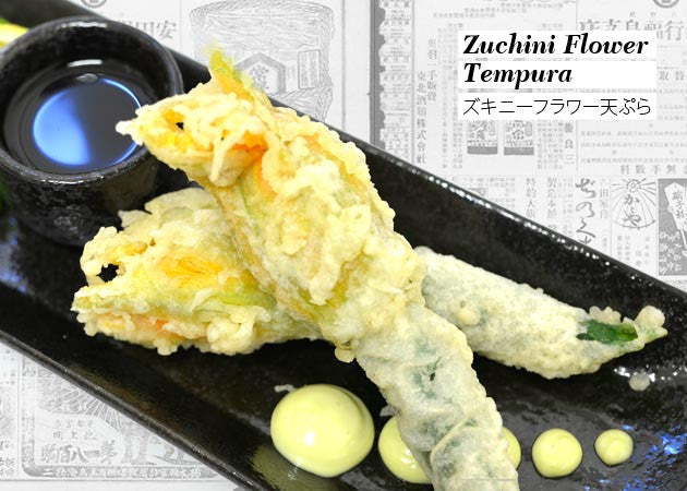 Zuchini Flower Tempura ( with Lobster salad filling )
