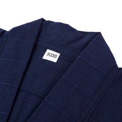 Single Layer Checked Pattern Navy Kendogi - Jacket [For Kids]