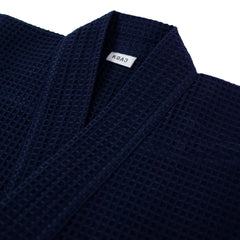 'Honeycomb' Navy Poly/Cotton Kendogi - Jacket