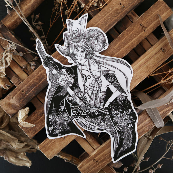 "「 牡羊座」Ohitsujiza ""Aries"" Vinyl Sticker"
