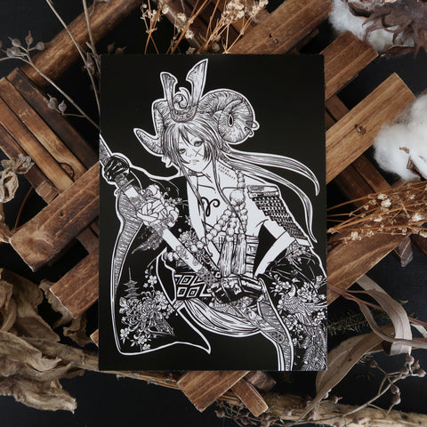 "「 牡羊座」Ohitsujiza ""Aries"" Card"
