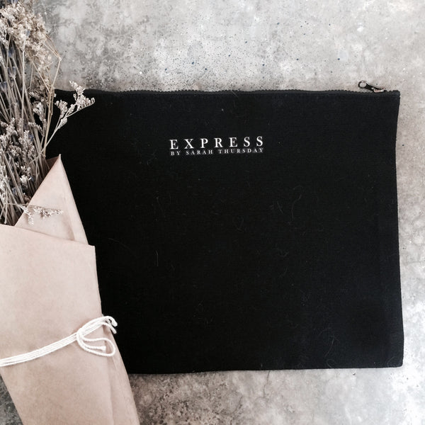 Express Black Pouch