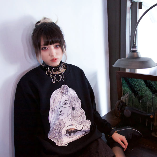 「 夜」Nightwalker Sweatshirt