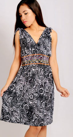 Grey Paisley Sundress