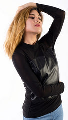 Long Sleeve Club top, black