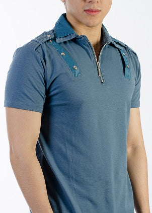 Sport Fit Style Double Collared w/zipper