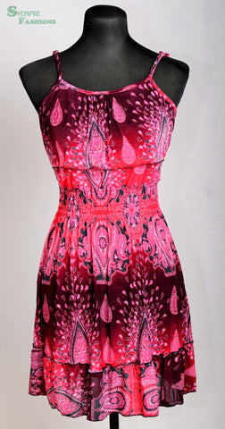 Sundress spaghetti straps red/pink
