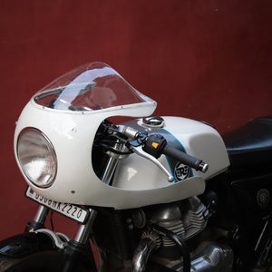 The all new retro bolt-on fairing kit for the Royal Enfield Continental GT 650 by J&D Custom Co.