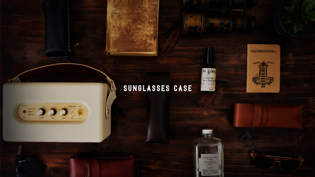 Leather Sunglasses Case - Trip Machine Company