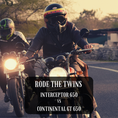 Royal Enfield Continental GT 650 Twin vs Interceptor 650 Twin Rode The Twins Trip Machine Company Easy Got Back