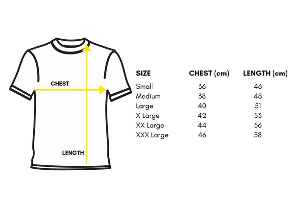 Sizing Chart. Trip Machine Company