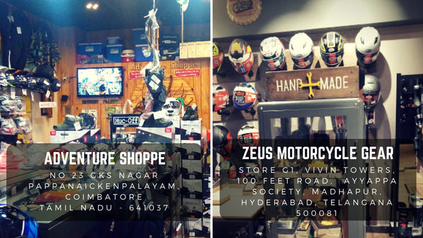 Trip Machine Company India Retailers Zeus Motorcycle Gear Hyderabad Adventure Shoppe Coimbatore