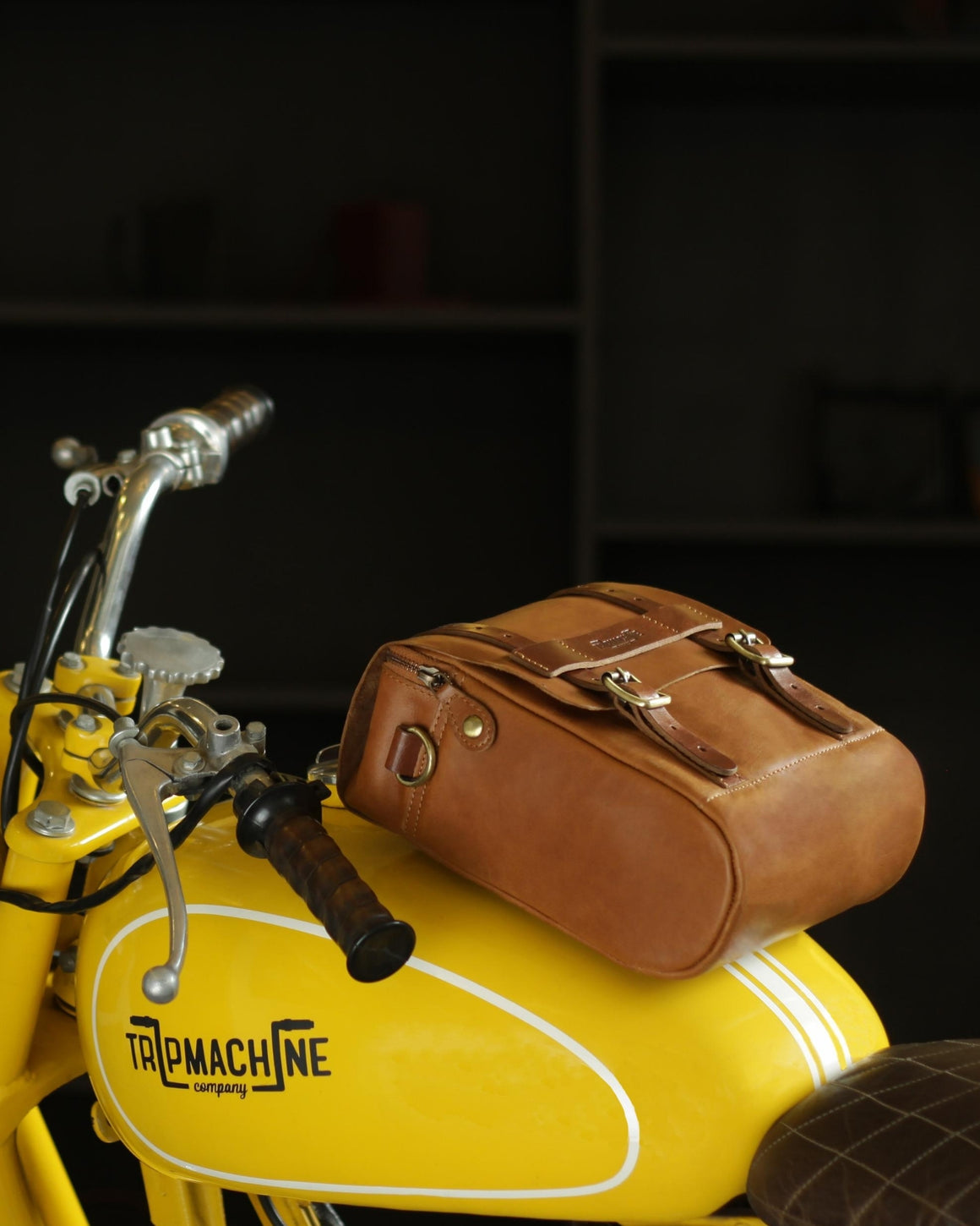 Tank Bag + Phone Pouch Vintage Tan