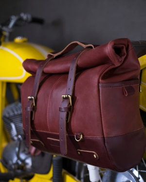 Backpack Pannier - Classic Roll Top Vintage Tan
