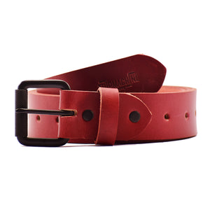 Belt - Cherry Red Single Pin
