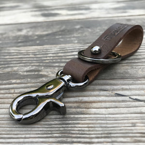 Key Fob - Tobacco Brown with Metallic Black
