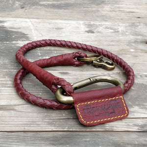 Braided Key Chain Cherry Red