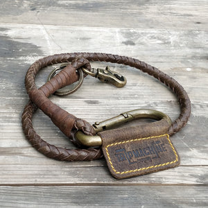 Braided Key Chain Tobacco Brown