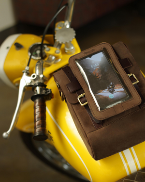Tank Bag + Phone Pouch Tobacco Brown