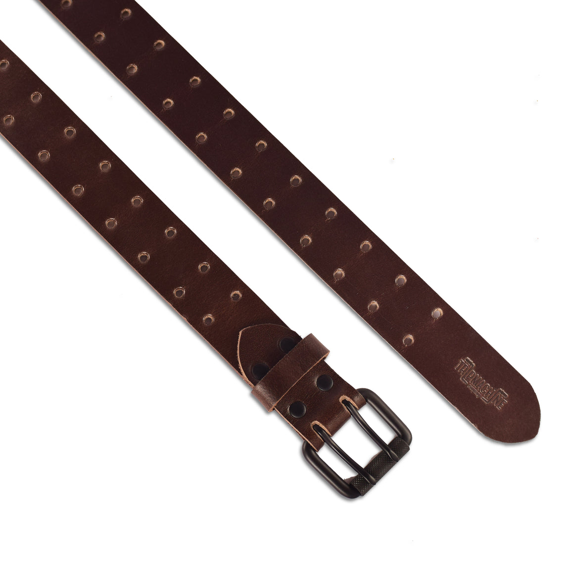 Belt - Tobacco Brown Double Pin