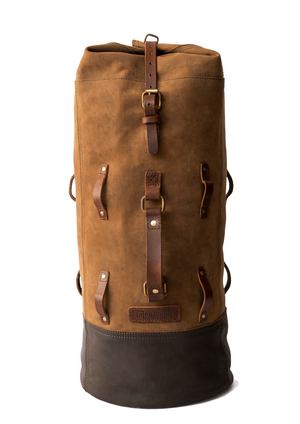 Leather Military Duffel - Tobacco Brown