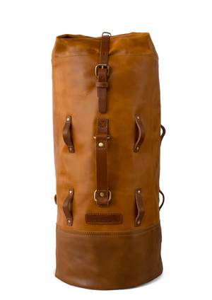 Leather Military Duffel - Vintage Tan