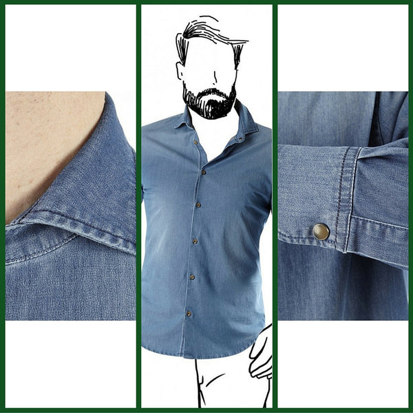 Fradi denim shirt made in italy - ofanto italy