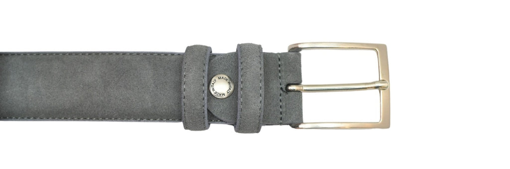 Leather Belt - Gray Suede