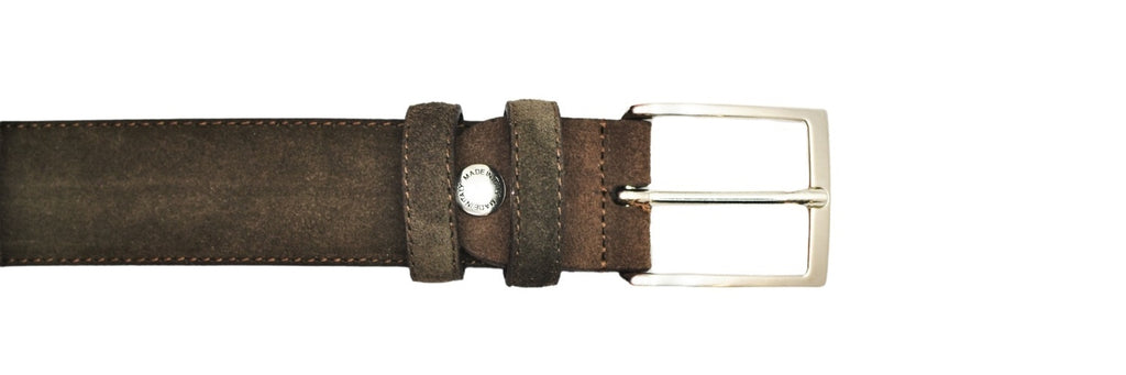 Leather Belt - Brown Suede