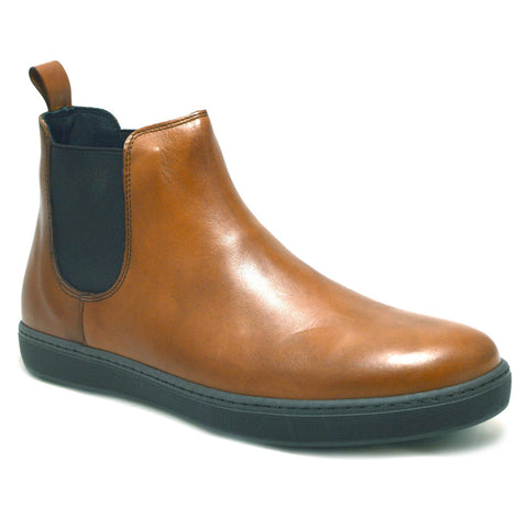 Italian Beatles Boots made in soft buff leather with a black rubber sole