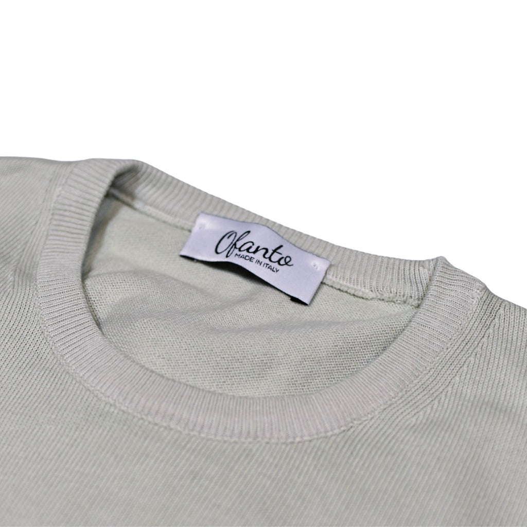The Italian Pullover - Ice Gray